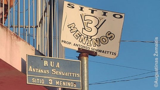 Antanas Senvaitis street in Angatuba