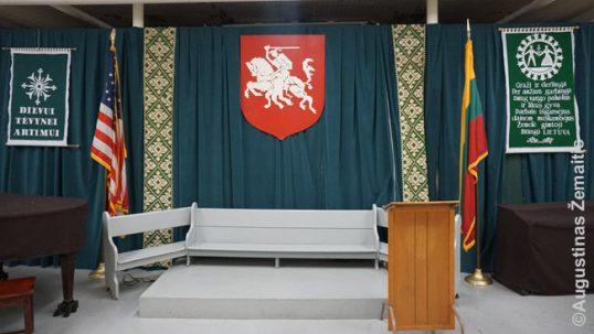 Hartfordo lietuvių salė apatiniame aukšte