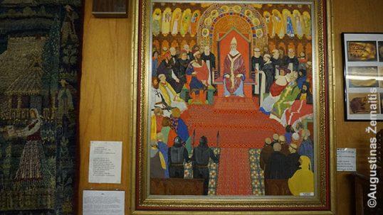 A historical painting by Kazimieras Žoromskis