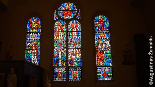 An example of the stained glass windows