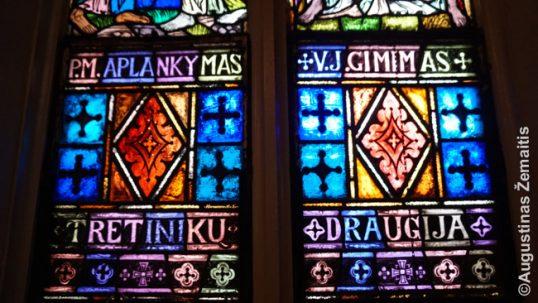 Voterberio lietuvių bažnyčios vitražas iš arti