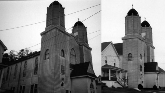 Forest City St. Anthony Lithuanian church before its demolition