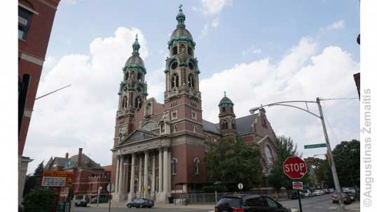 Holy Cross Lithuanian church in Chicago (Back of the Yards)