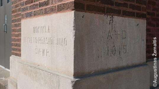Braiton Parko lietuvių mokyklos kertinis akmuo