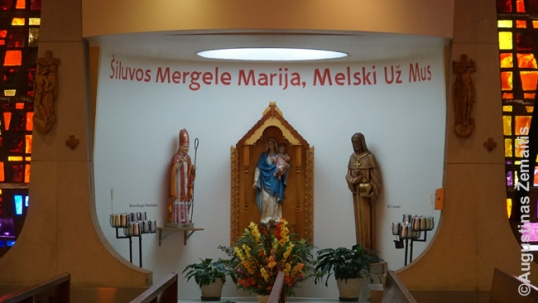 Our Lady of Šiluva side-chapel at the Brighton Park Lithuanian church of Immaculate Conception