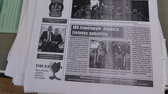 """""""Draugo"""" leidykloje radome ką tik atspausdintą laikraštį su straipsniu apie mus"""