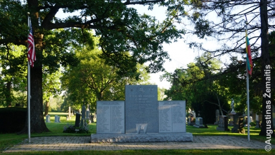 Monument to the founders of the Lithuanian National Cemetery of Chicago