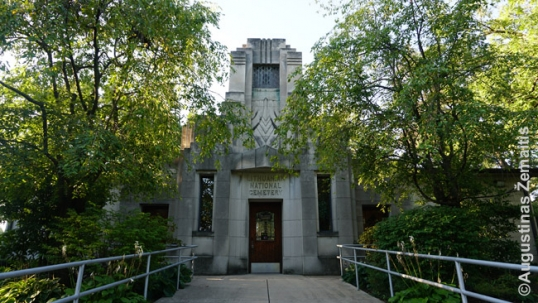 Art-deco-styled office of the Lithuanian National Cemetery of Chicago