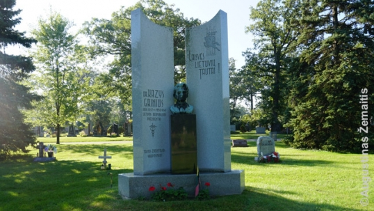 President of Lithuania Kazys Grinius monument