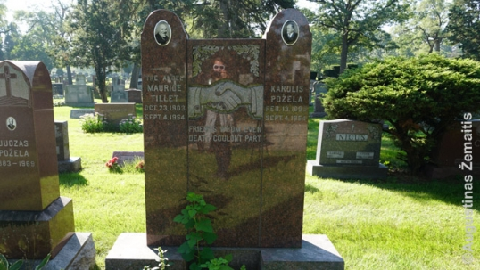 Maurice Tillet and Karolis Požėla mutual grave at the Lithuanian National Cemetery of Chicago