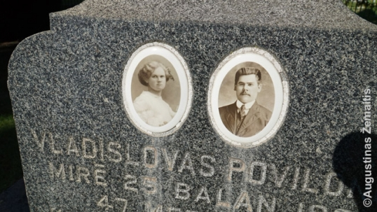 Grave images at the Lithuanian National Cemetery of Chicago
