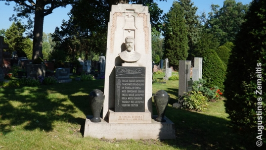 Vincas Kudirka Memorial at the Lithuanian National Cemetery of Chicago