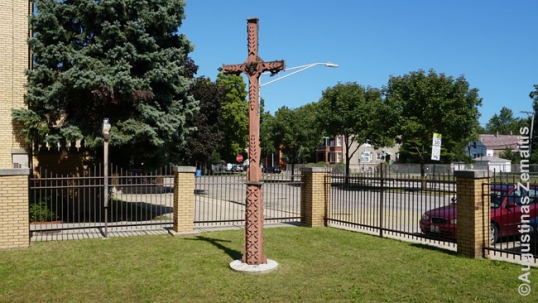 Lithuanian cross dedicated to the victims of Kražiai massacre