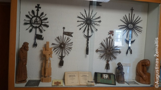 Traditional Lithuanian metal crosses in the Lithuanian Youth Center museums