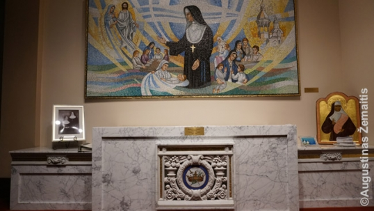 Marija Kaupas sarcophagus at the St. Casimir Sisters convent