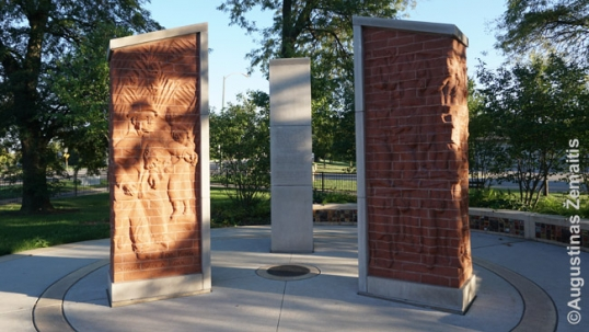 Martin Luther King memorial in Marquette Park