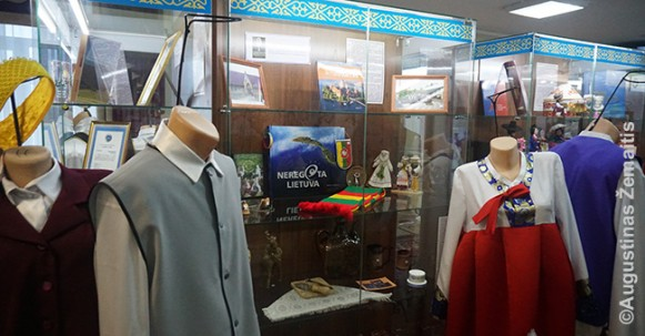 Lithuanian exhibit at the Palace of Friendship in Karaganda