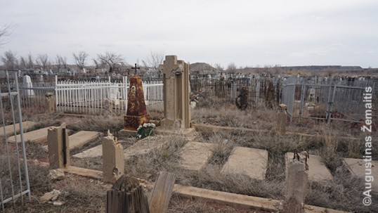 A group grave of Lithuanians who remained in Kazakhstan (village of Rudnyk) after surviving Gulag.