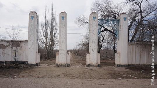 """Rudnyko miesto parko įėjimas (kapinės yra už šio """"parko"""")"""
