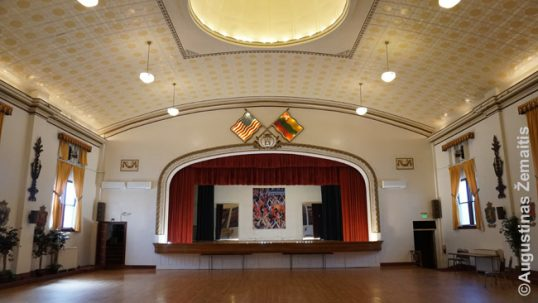 The main hall of the Baltimore Lithuanian Hall