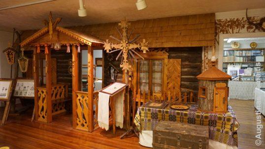 Lietuviška trobelė Baltimorės lietuvių muziejuje