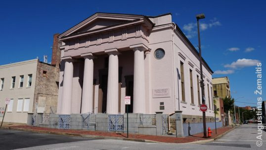 Lloyd Street synagogue (former Lithuanian church) in Baltimore