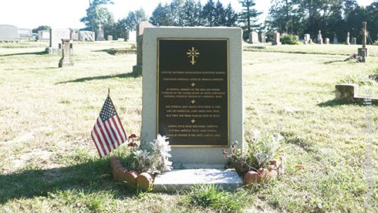 World War 2 memorial for Lithuanian National Catholics war veterans of Lawrence area