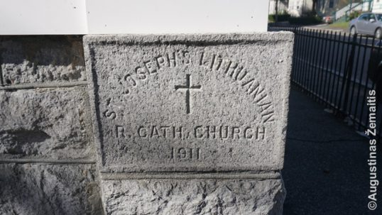 Cornerstone of the Lowell church