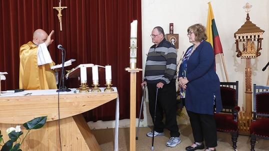 Inside the Lithuanian parish house chapel of Melbourne