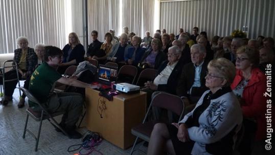 Pilna auditorija 'Tikslas - Amerika' pristatyme Detroite