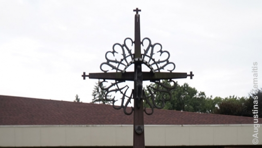Lithuanian cross at the Divine Providence church