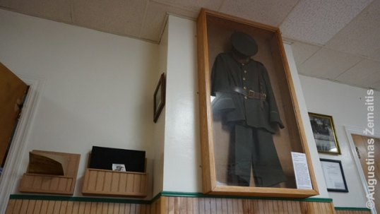 Vytautas Kareivis Aid Society uniform at the Society's heritage rooms