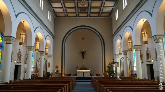 Interior of the Ss. Peter and Paul Lithuanian church