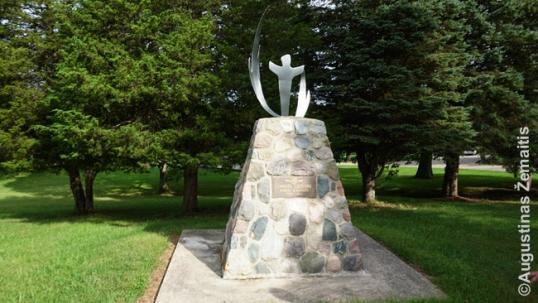 Romas Kalanta monument in Dainava
