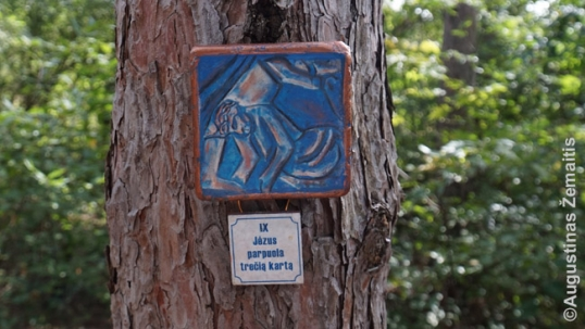 Lithuanian station of the cross at Dainava forest calvary