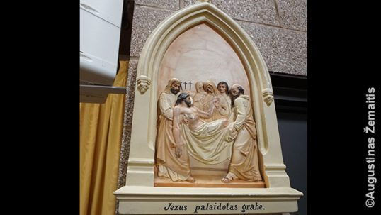 Old Lithuanian station of the cross at the Bayonne Lithuanian church