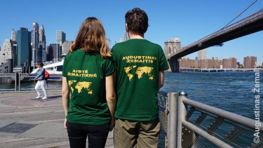 Augustinas ir Aistė Žemaičiai Niujorke 'Tikslas - Amerika 2019' metu