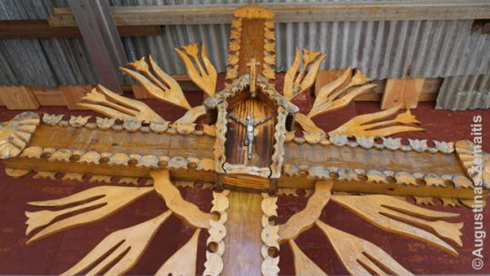 Lithuanian sun-cross at the Annunciation church