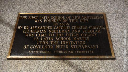 Atminimo lenta Kuršiui prie Niujorko akcijų biržos