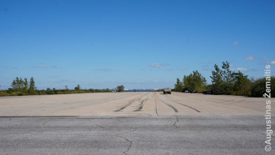 The runway at Floyd-Bennet airport
