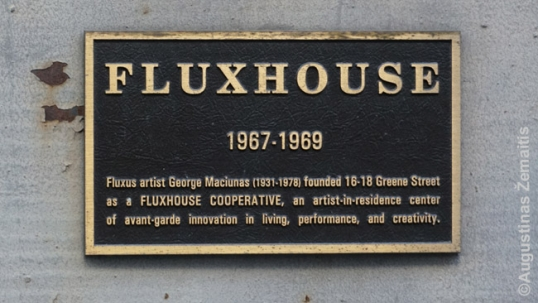 Fluxhouse memorial plaque