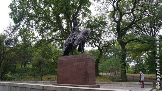 Monument of the King Jogaila in New Yorks's Central Park
