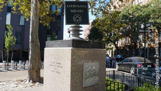Lietuvos aikštės paminklas Brukline