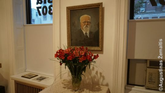 An image of Jonas Šliūpas at the Lithuanian Alliance HQ