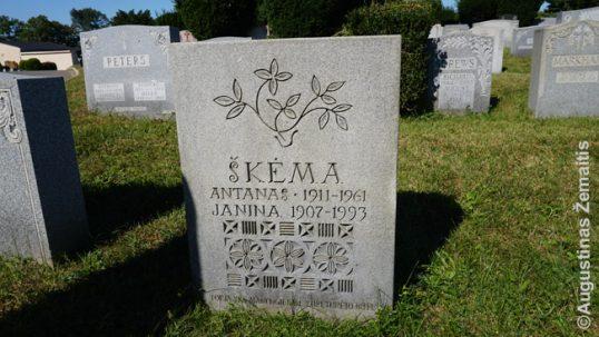 Antano Škėmos kapas