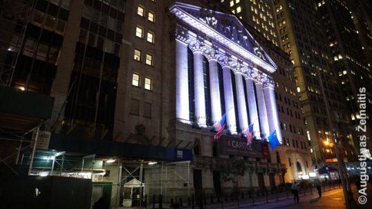 Niujorko akcijų birža, kur pakabinta Kuršiui atminimo lenta