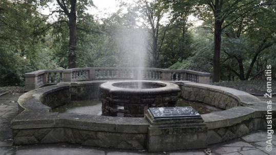 Grand Duchess Birutė fountain in Cleveland Lithuanian Gardem