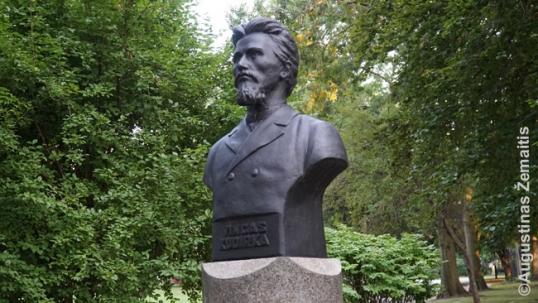 Vincas Kudirka statue in Cleveland Lithuanian garden