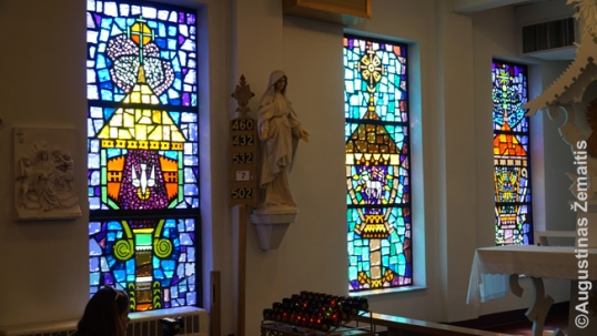 Stained-glass windows of the Dayton Lithuanian church
