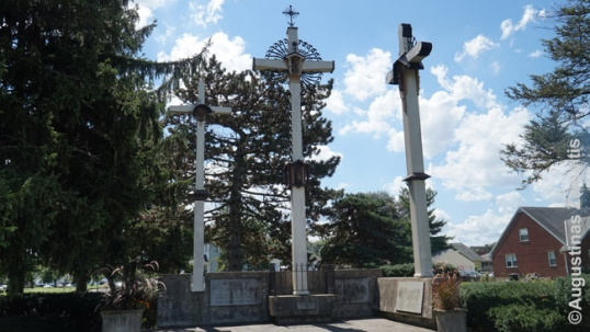 Three crosses shrine at the Dayton Lithuanian church